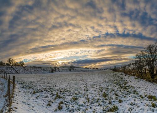 landscape eastrenfrewshire walking neilston panorama winter scotland snow helicopter