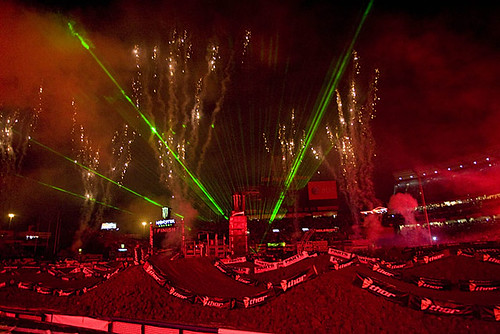 Opening Fire works and Lazer show