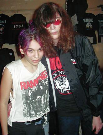 Joey Ramone & fan at CBGB 2000 | by bp fallon