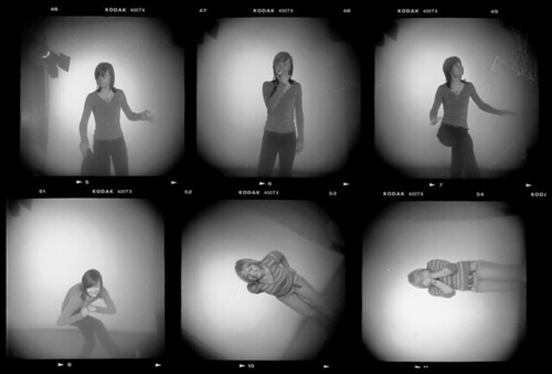 holga, studio lighting test, contact print