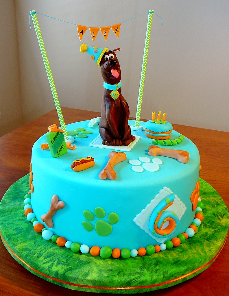Remarkable Scooby Doo Birthday Cake Sugar Character Created With Perm Flickr Funny Birthday Cards Online Alyptdamsfinfo