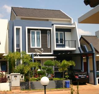 rumah 2 lantai model modern minimalis terdiri 3 kamar tidu