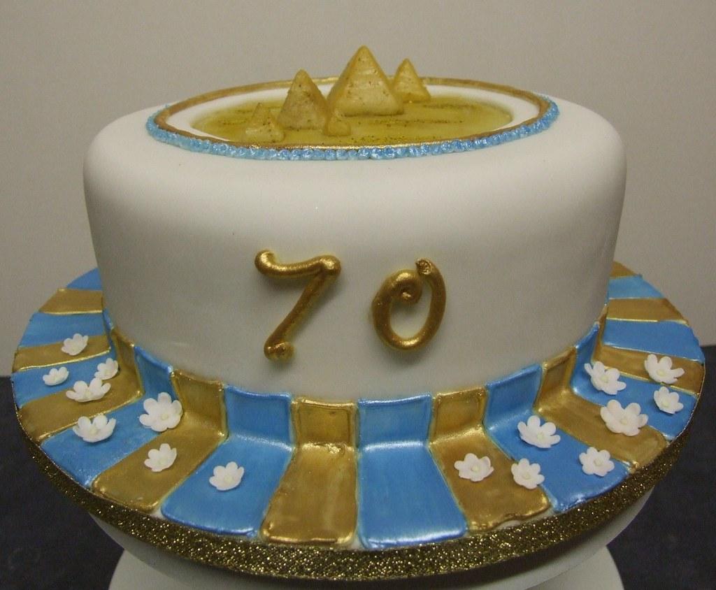Pleasant Egyptian Pyramids 70Th Birthday Cake 70Th Birthday Cake Fo Flickr Funny Birthday Cards Online Necthendildamsfinfo