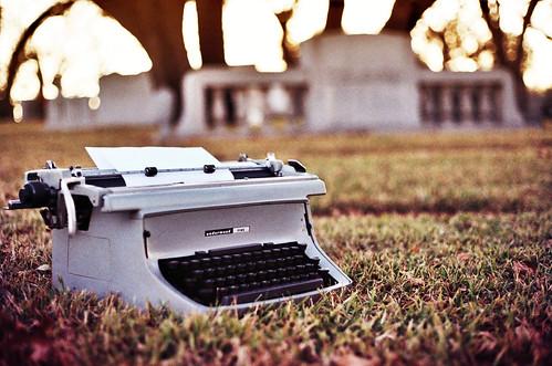 sunset film cemetery graveyard typewriter headstone requiem ghostwriter poetaster underwoodfive zeloski