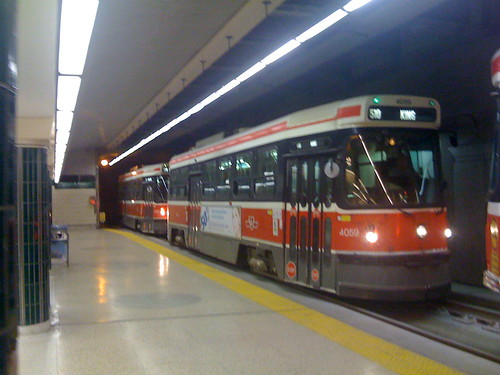 King Streetcar at Spadina Station | by sillygwailo