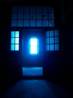 an eerie glow