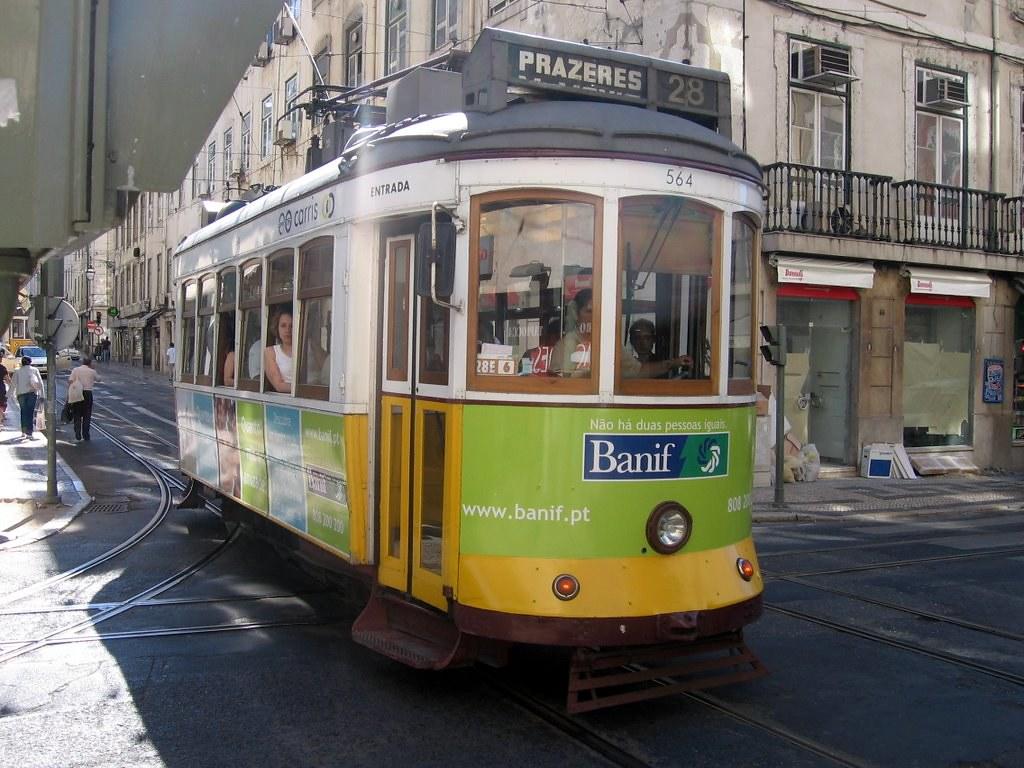 Lisbon tram in Baixa Chiado | The main tourist attraction in… | Flickr