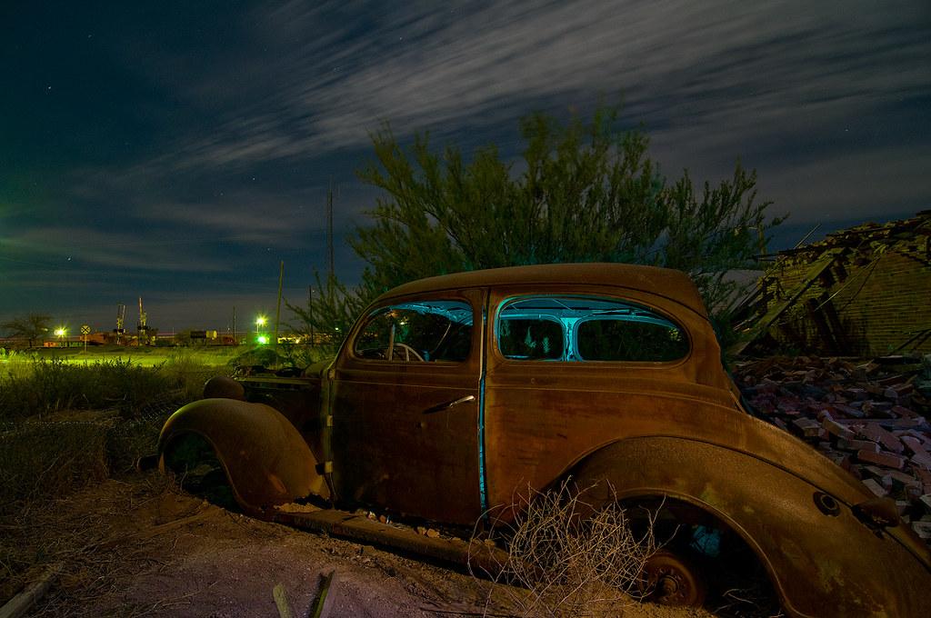 Noel Automobile Getaway Car   Gotta see it large on black! An old automobile…   Flickr