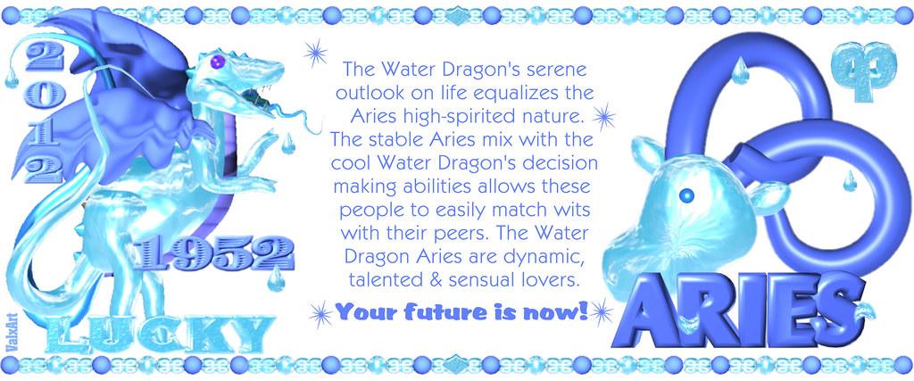 ValxArt's 1952 2012 Water Dragon Chinese Zodiac people bor