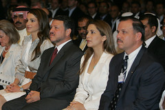 King Abdullah, Queen Rania - World Economic Forum on the Middle East Dead Sea Jordan 2007