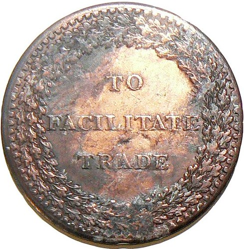 Provincial Token- Penny- Issued in Staffordshire, 1811 (Reverse) (33.5mm dia)