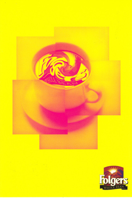 Folger's Coffee Ad Postcard