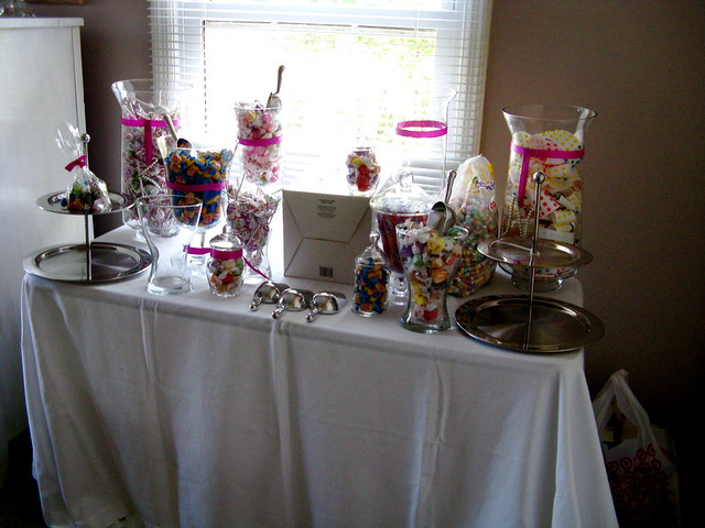 mockup of my candy buffet!