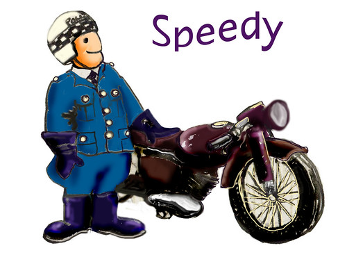 """Speedy"" the Motorcycle Traffic Cop"