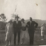 Dulcie Brown, Talbot Salter, Mollie Smith, Mr Brown, Kelmscott, Western Australia, 20 March 1926