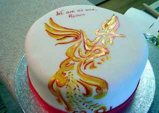 Pleasant Phoenix Cake Done To Match A Tattoo On The Guest Of Hon Flickr Funny Birthday Cards Online Barepcheapnameinfo