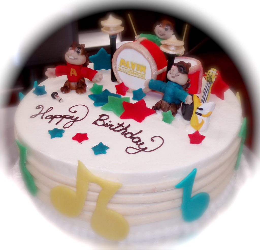 Fabulous Alvin And The Chipmunks Alvin And The Chipmunks Cake Drum Flickr Funny Birthday Cards Online Alyptdamsfinfo