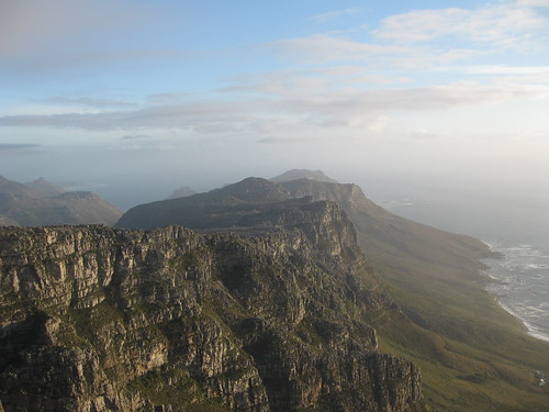 Looking down the cape peninsula from the top of Table Mountain
