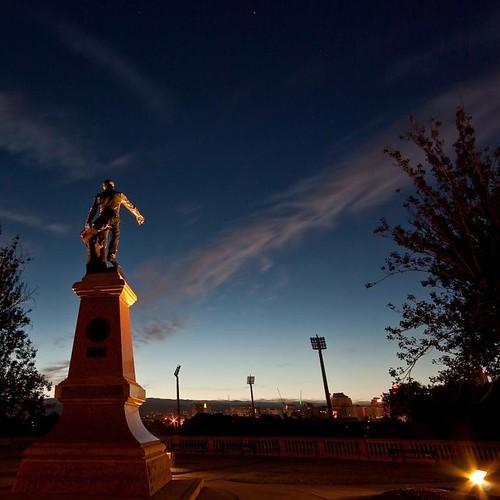 statue sunrise pentax australia wideangle adelaide sa southaustralia squarecrop sigma1020mmf456 williamlight k10d pentaxk10d justpentax