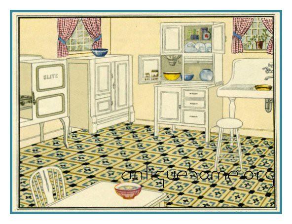 1920 Kitchen Design | Twenties Kitchen from a Sears home dec ...