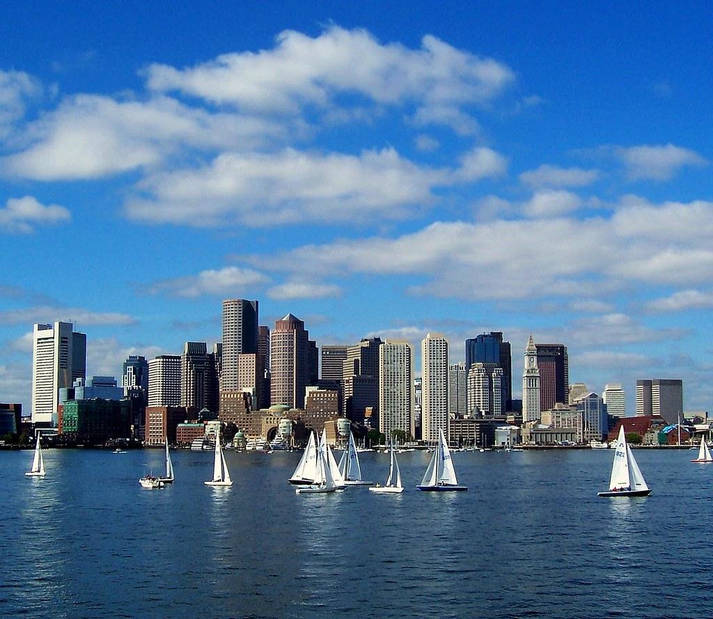 Sailing - Boston Harbor - Boston Skyline   Boston Harbor   FL Smith   Flickr