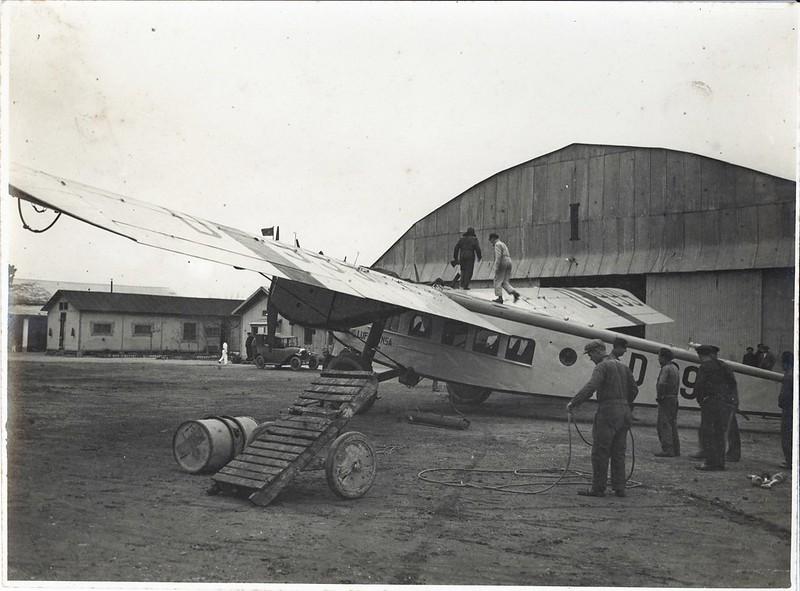 Avión de Lufthansa que fué transferido a Iberia para que esta comenzase a operar en 1927