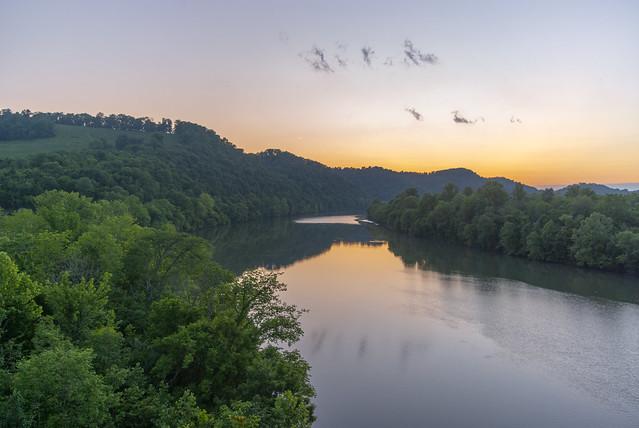 Sunset over the Cumberland River, Gainesboro, TN