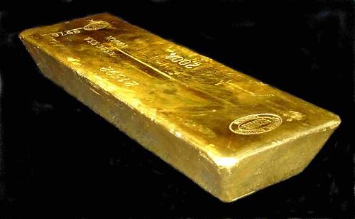 gold bar on black