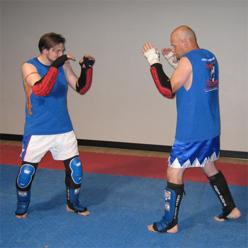 Muay Thai Fight Stance | This is Leon and Scott, two guys in… | Flickr