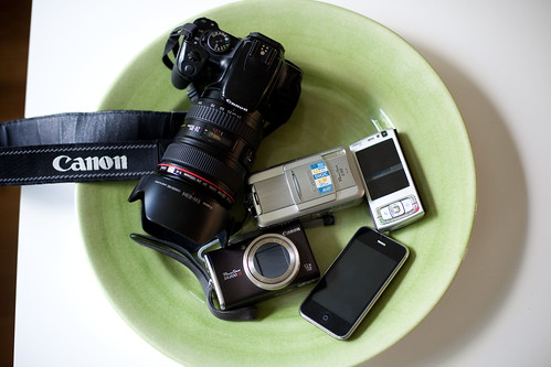 My available cameras today (shot with my 5D2, so it's not in the image)   by eirikso