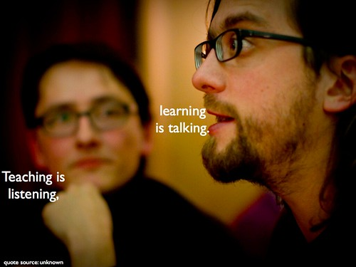 Teaching is listening, learning is talking | by dkuropatwa