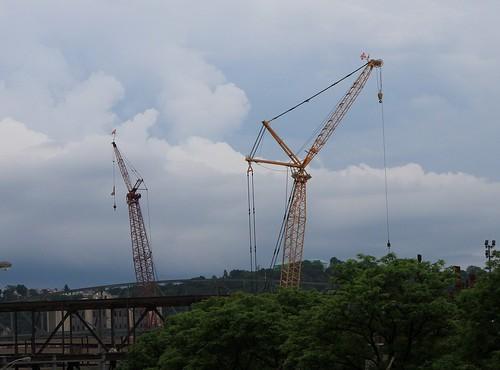 New Arena Cranes