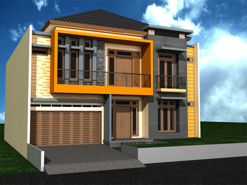 Tampak Depan Rumah Minimalis 2 Lantai Di Pondok Kelapa A Photo On Flickriver