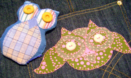 Appliqued Owl and Owl Stuffie
