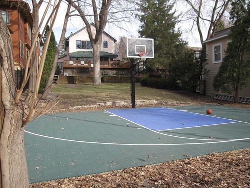 Backyard Basketball Court   by edkohler