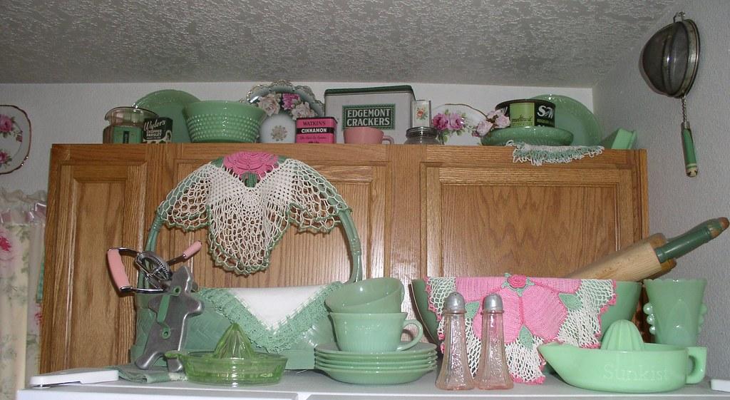 Vintage New Jadeite Glassware And Green Kitchen Collecti Flickr