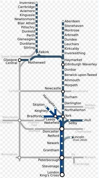 map of east coast train line Map Of The Uk S East Coast Mainline Train Chartering Suppl Flickr map of east coast train line