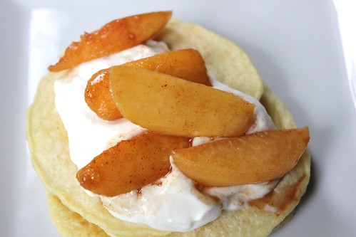 Peaches and Cream Pancakes | by NY Foodie Family