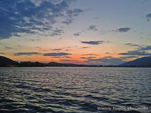 Sunset at lake Pamvotis