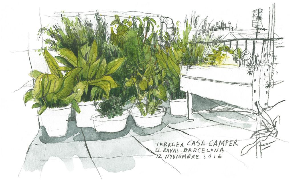 Santi Salles Ilustracion Terraza Casa Camper Santi Sallés