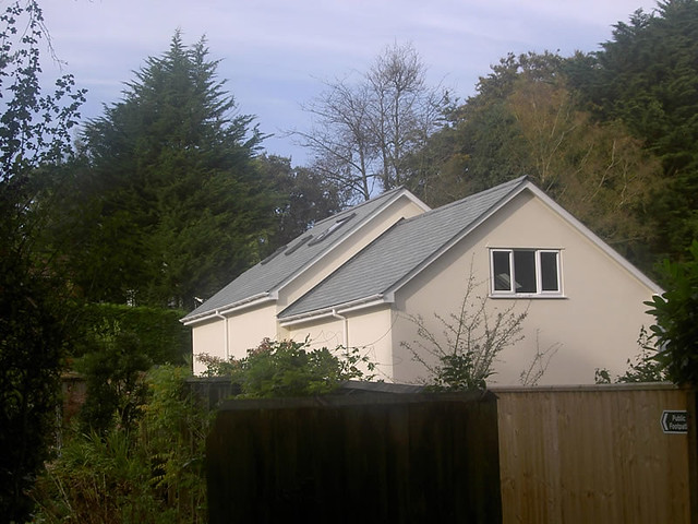 <p>Demolished existing first floor,built up creating bedroom and store above garage.</p>