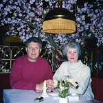 Clifford Charles & Ann Patricia Griffiths. Dining with friends in Berlin. May 1994