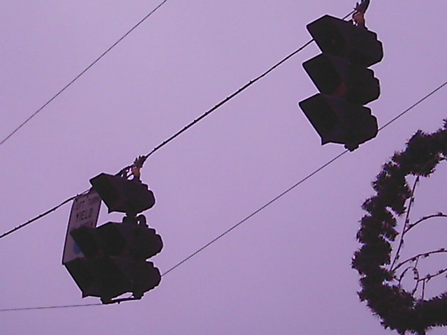 Goofy traffic lights