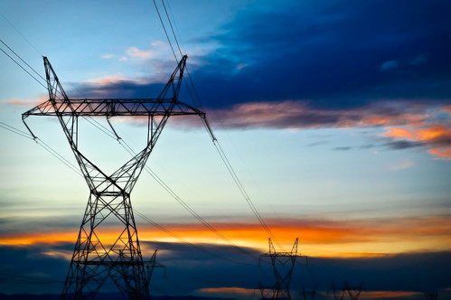sunset electric nikon colorado power powerlines d40