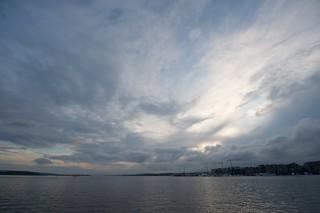 Oslo fjord sunset