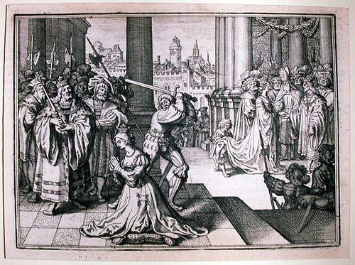 The execution of Anne Boleyn, German engraving circa 1630 | by lisby1
