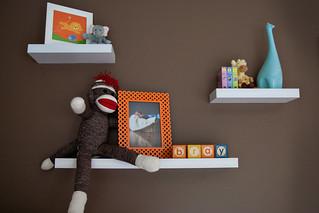 Aqua/Brown/Orange Boy's Nursery Design   by Tabitha Blue / Fresh Mommy