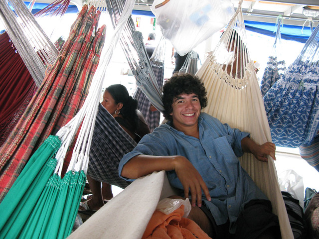 Francisco in hammock