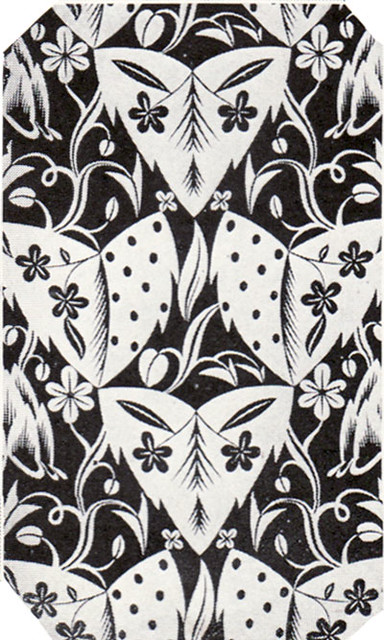 1924 Black White Art Deco Wallpaper This Wallpaper Was S Flickr