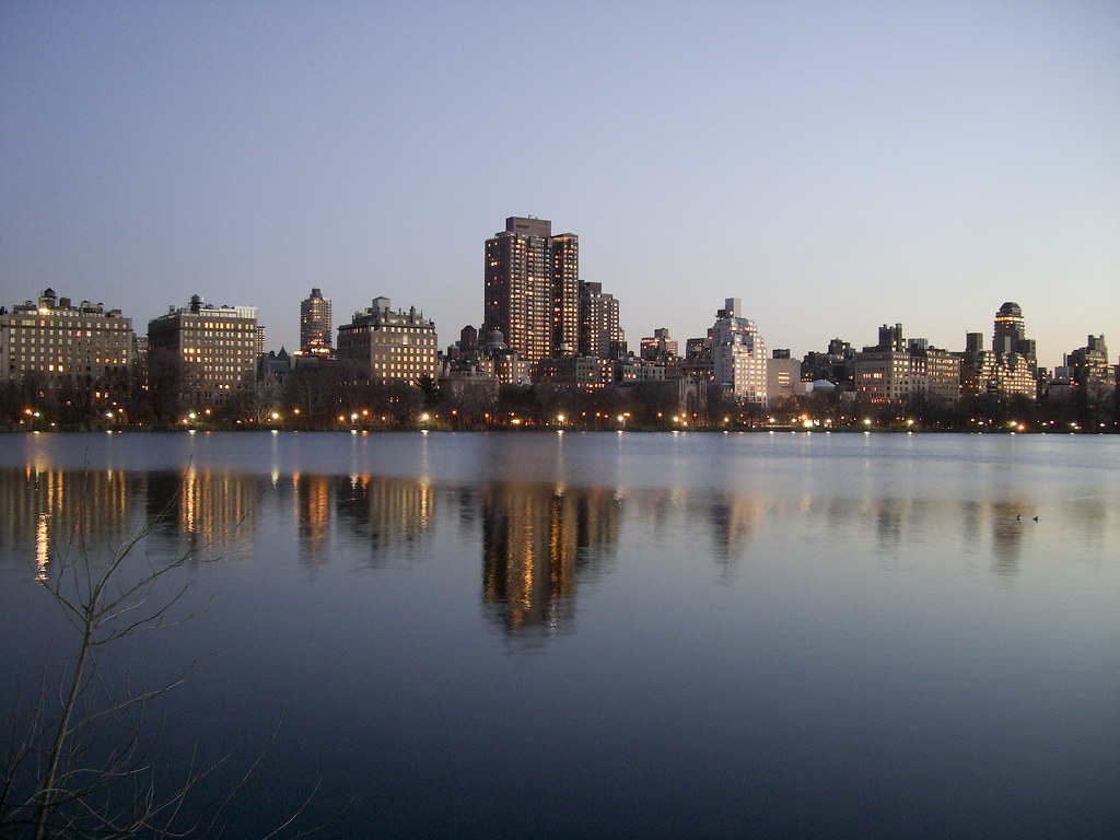 Sunset in the Central Park